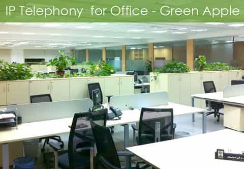 IP Telephony Solution for Office Green Apple